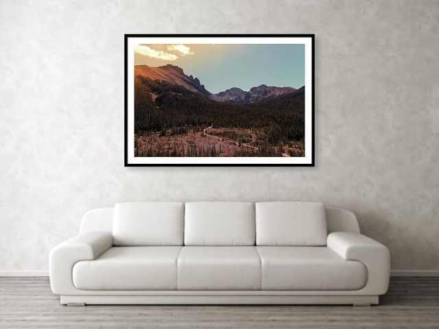 State Forest State Park Landscape Framed Print