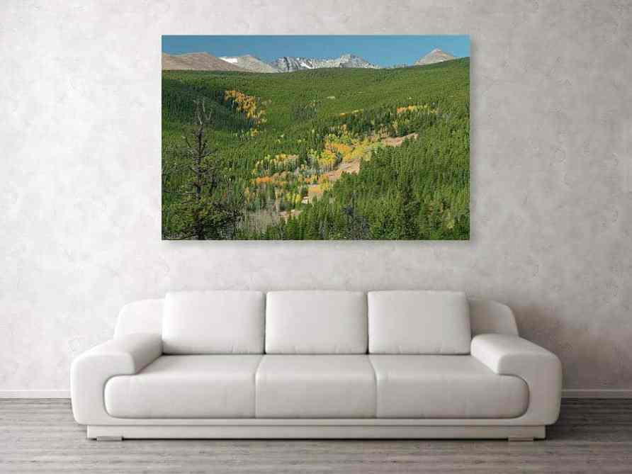 Indian Peaks Autumn Landscape View Canvas Print