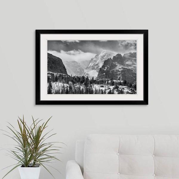 RMNP Gateway To The Rockies BW Framed Print 20x30