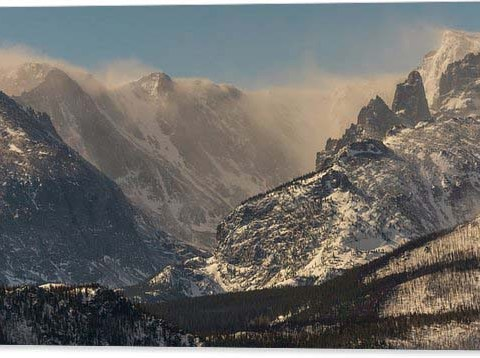 Blowing Snow on the Rocky Mountain Continental Divide Acrylic Print