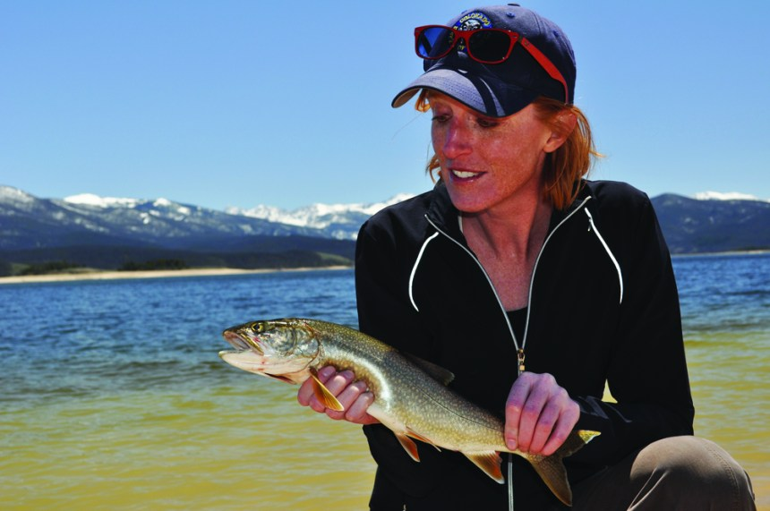 Katie with a Lake trout.