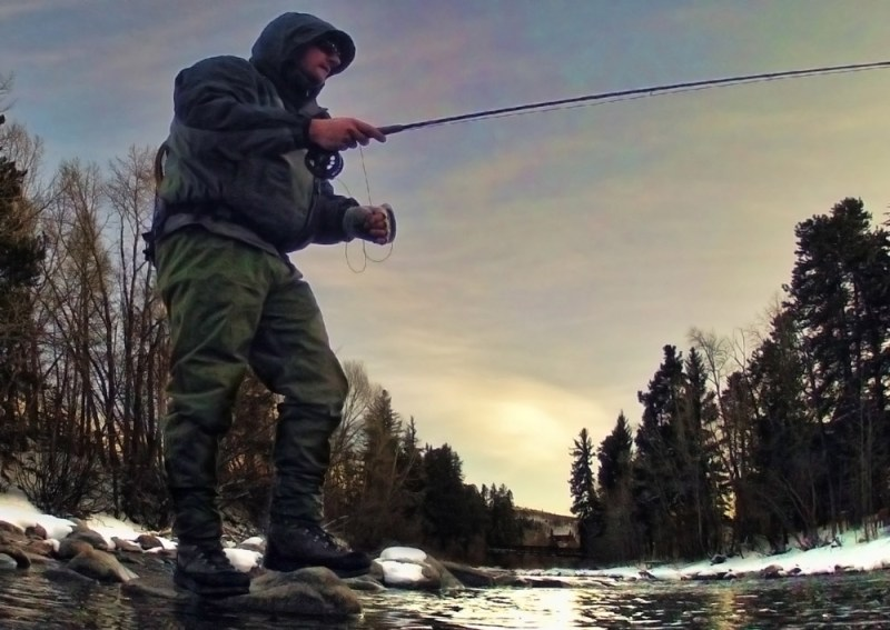 Jesse Peterson fly fishing