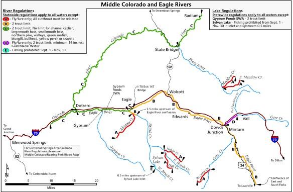 FISH MAP: Colorado River and Eagle River