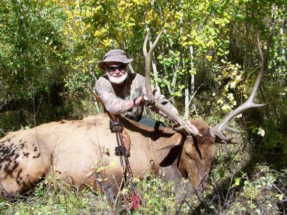 David Petersen and a bull elk.