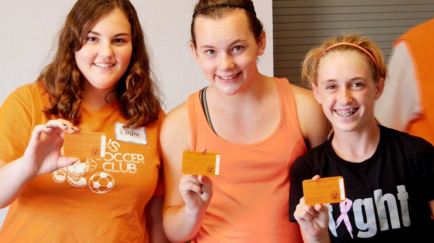 Students pose with their hunter education cards
