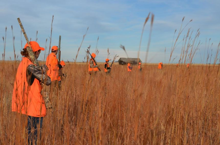 Pheasant hunters on a 2014 NHP hunt. Photo by Tony Dymek/CPW.