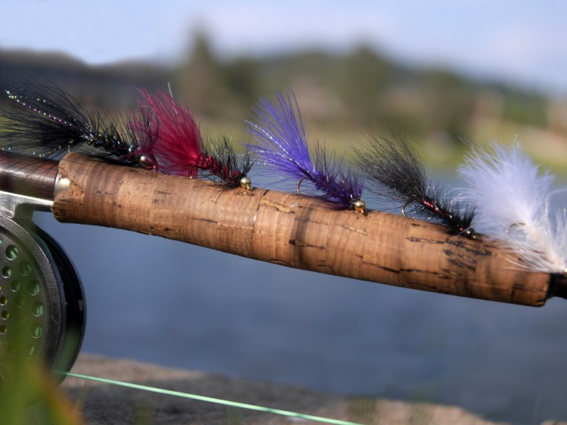 Wooly buggers come in a variety of colors. Photo by Jerry Neal/CPW.