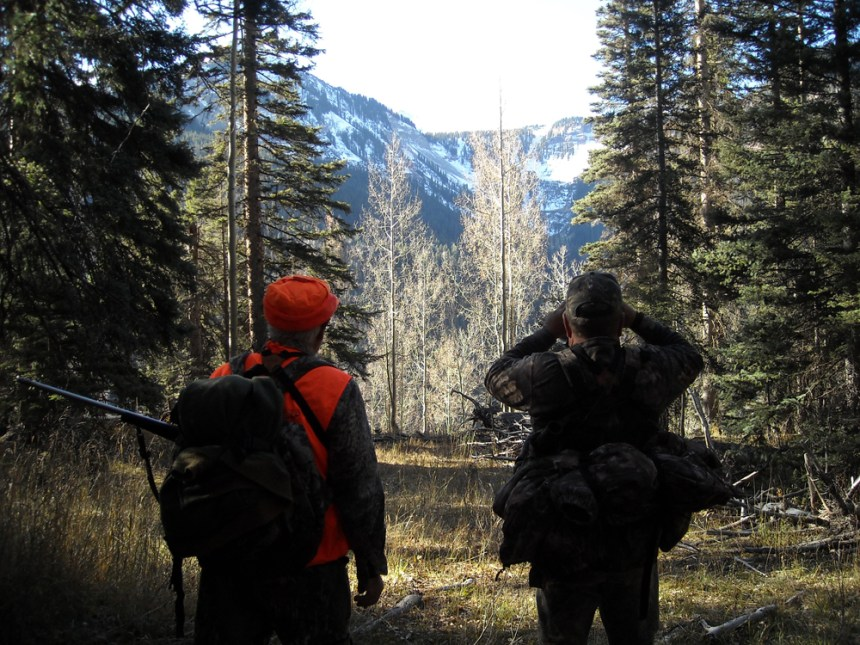 Hunters glass the area for elk in the rugged San Juan Mountains