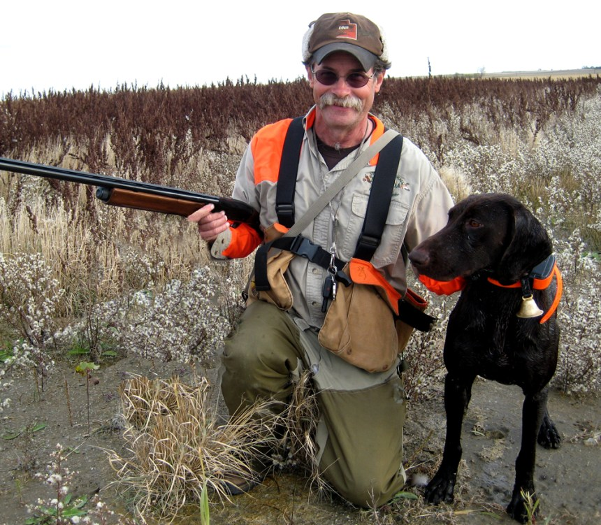 Craig McLaughlin and his German shorthaired pointer on a recent upland hunt.