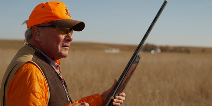 Tom Brokaw on a recent Pheasant Hunt in South Dakota. Photo courtesy of NBC Sports.