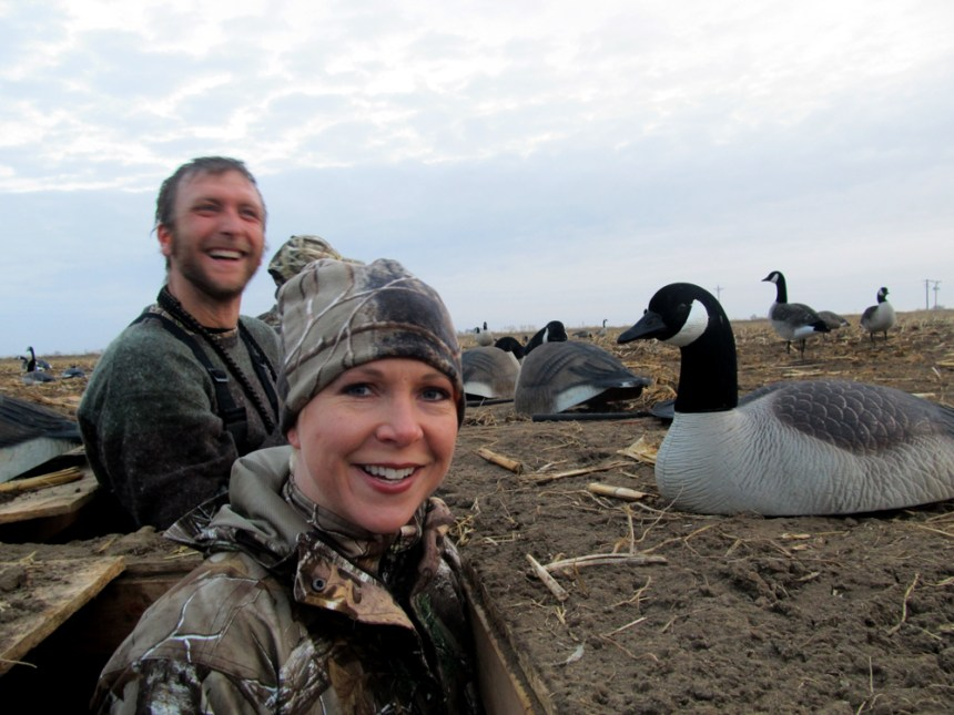 Tim Brass and Melinda Miller smile after a successful hunt. Photo by ©David Lien.