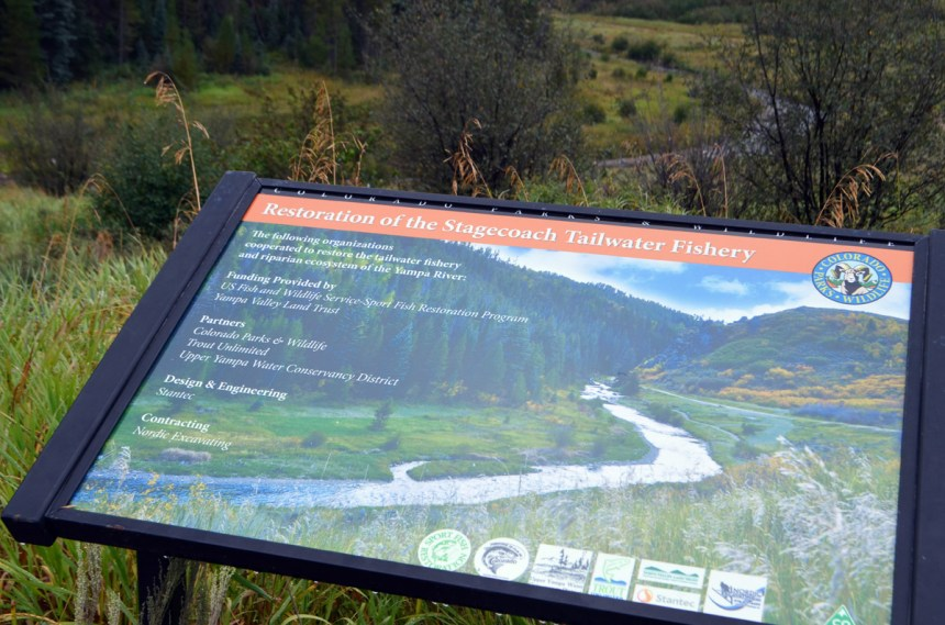 Tailwater restoration sign