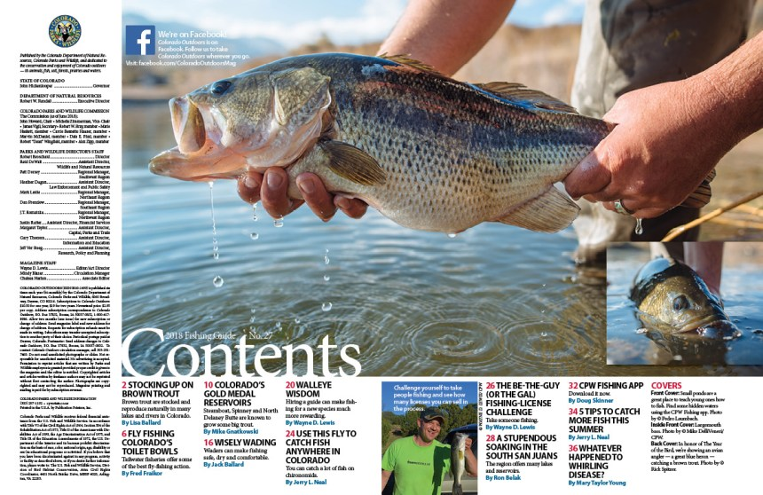 2018 Fishing Guide - Magazine Contents