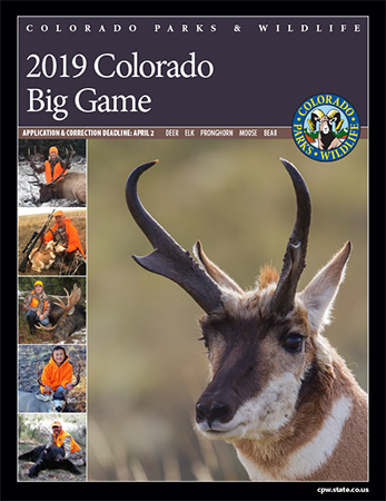 Colorado 2019 Big Game Brochure Cover