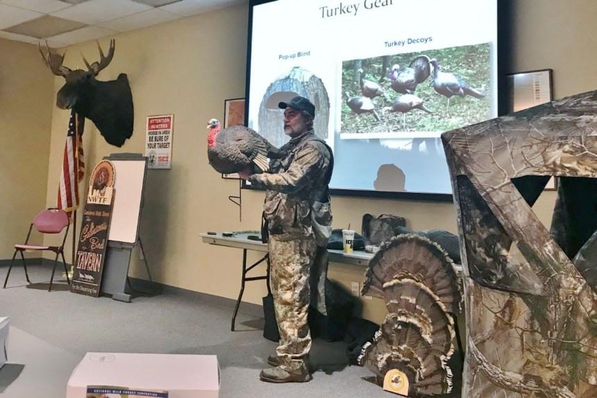 Willie Kalaskie teaches Turkey Hunting 101 class