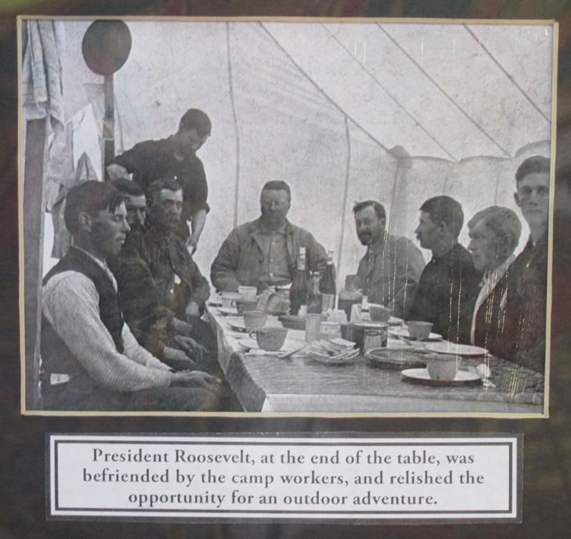 President Roosevelt at hunting camp.