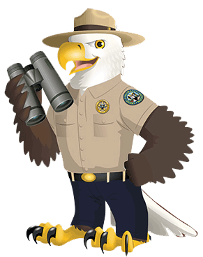 Agents of Discovery Eagle Mascot