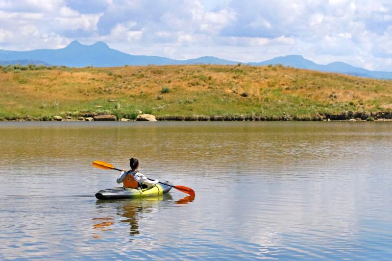 Kayaking at  Elkhead Reservoir State Park