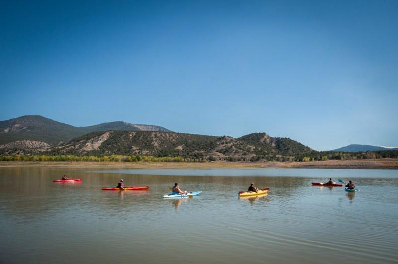 Kayaking Navajo Reservoir State Park