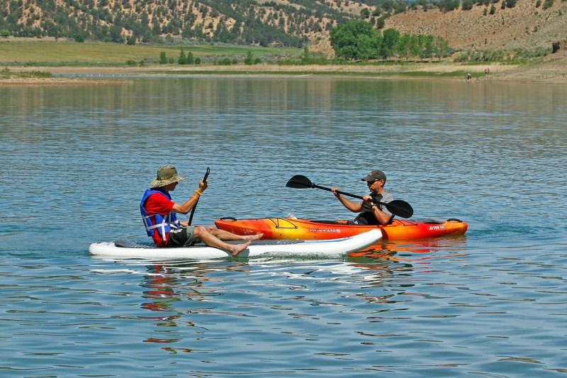 kayaking at Rifle Gap State Park