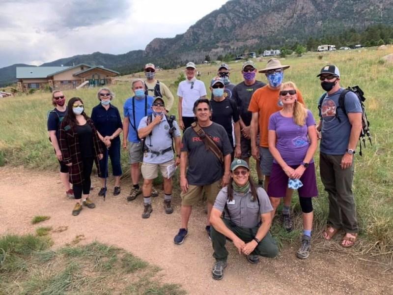 Trail ambassadors at Cheyenne Mountain State Park