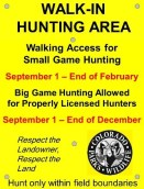 Big Game AND Small Game WIA Property Sign