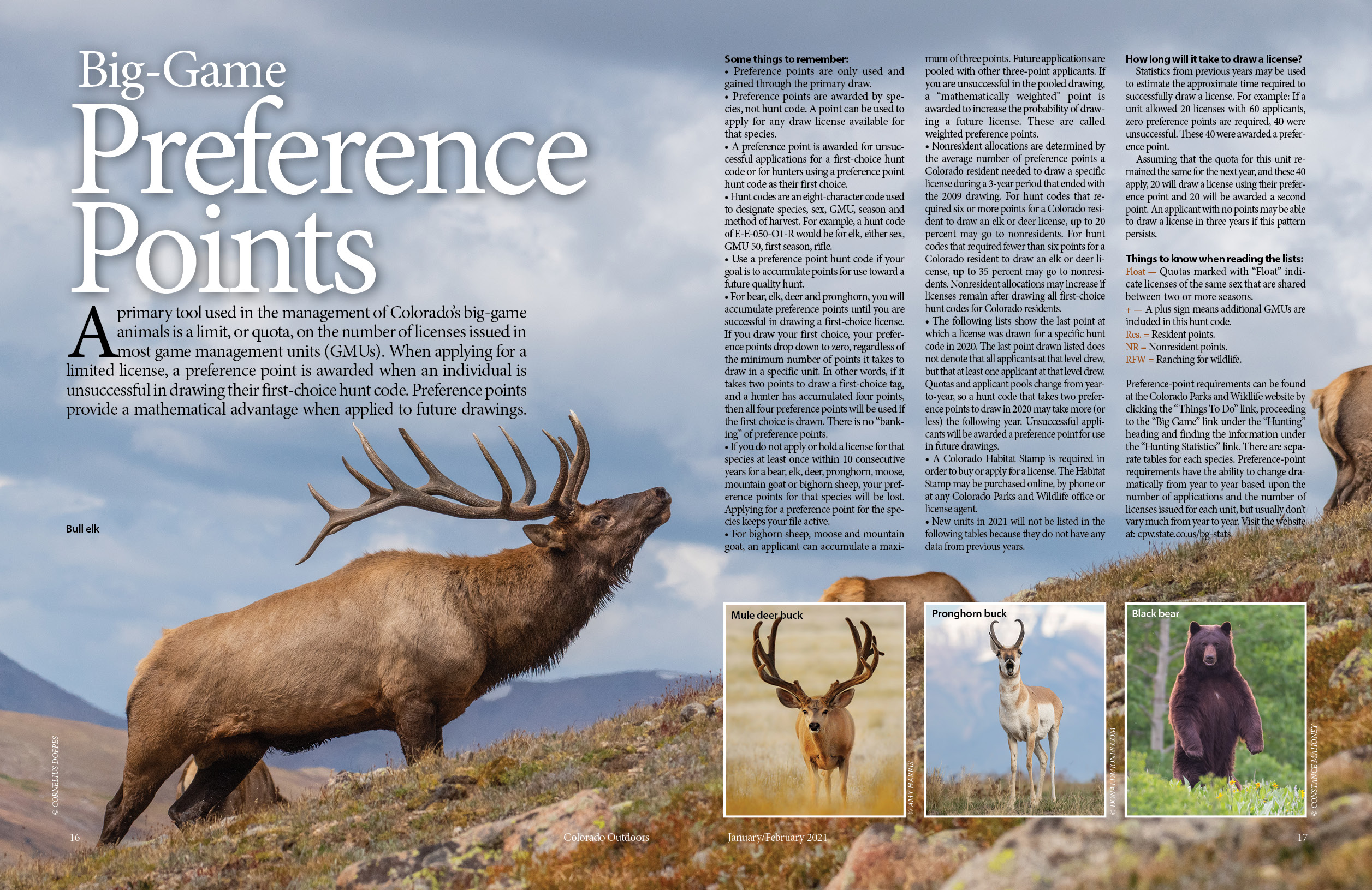 2021 Colorado Outdoors Preference Point Issue (Online Edition)