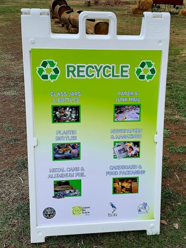 Barr Lake Recycle sign