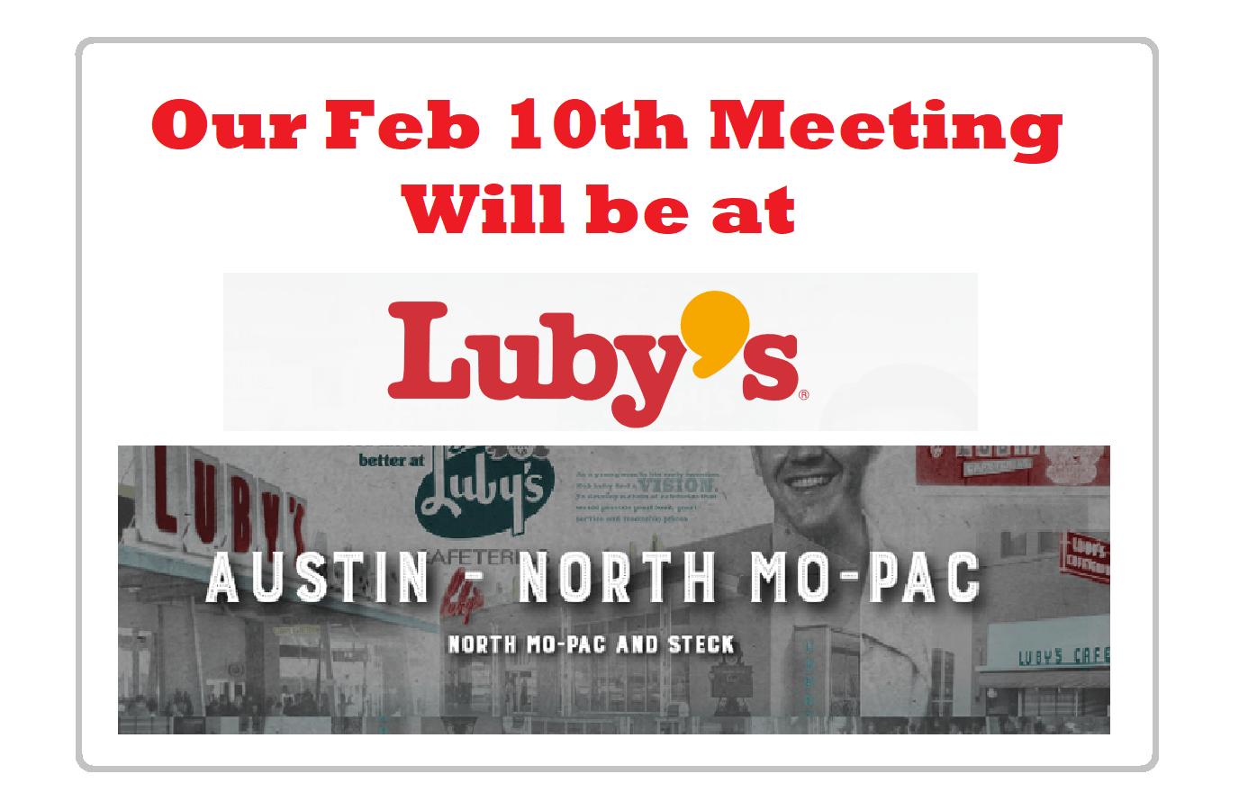 Next CRW Club Meeting is Feb 10th