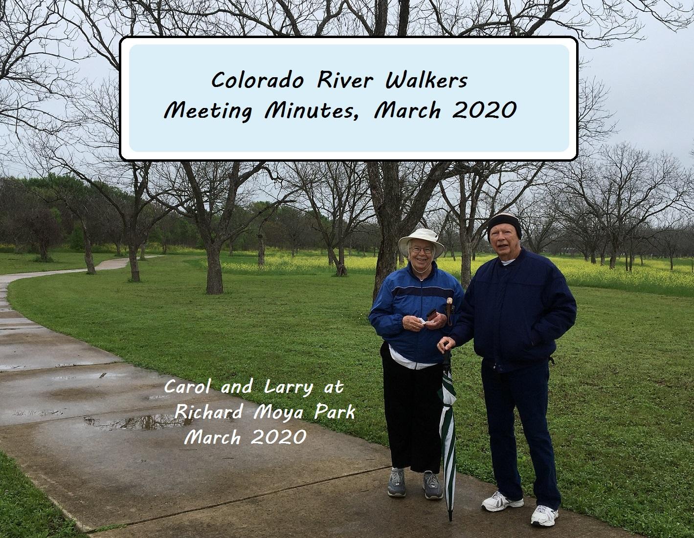 Meeting Minutes Mar 2020