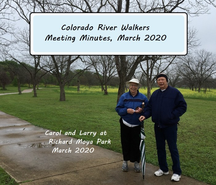 Meeting Minutes Mar 2020
