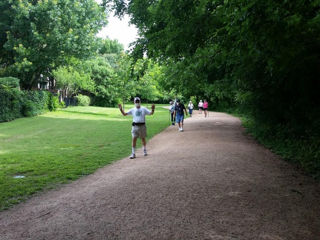 Katherine Fleischer Park, walkers on path