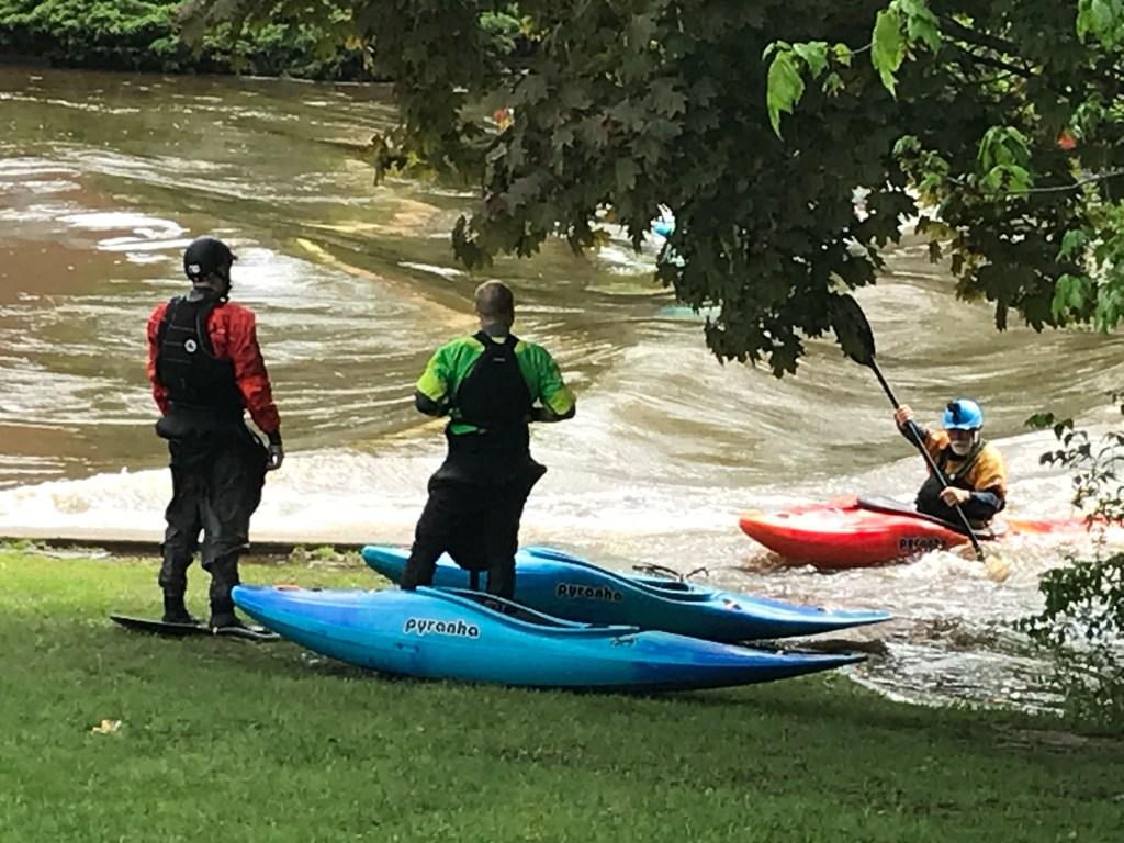 Kayakers on Red Cedar River at MSU