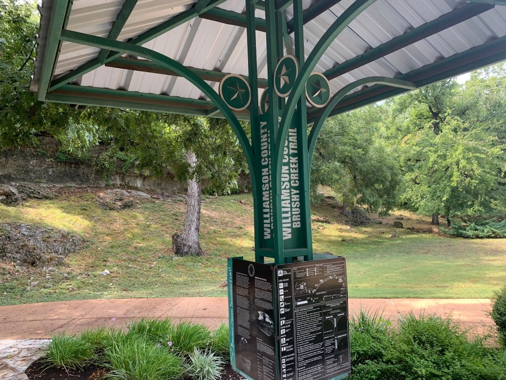 Brushy Creek Regional Trail  sign and map
