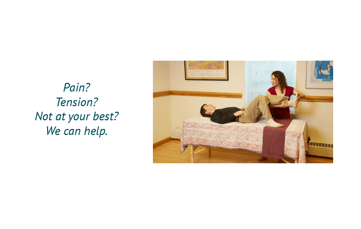 Pain? Tension? Not at your best? We can help.
