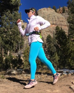 Anna Sobotka running in the mountains of Colorado