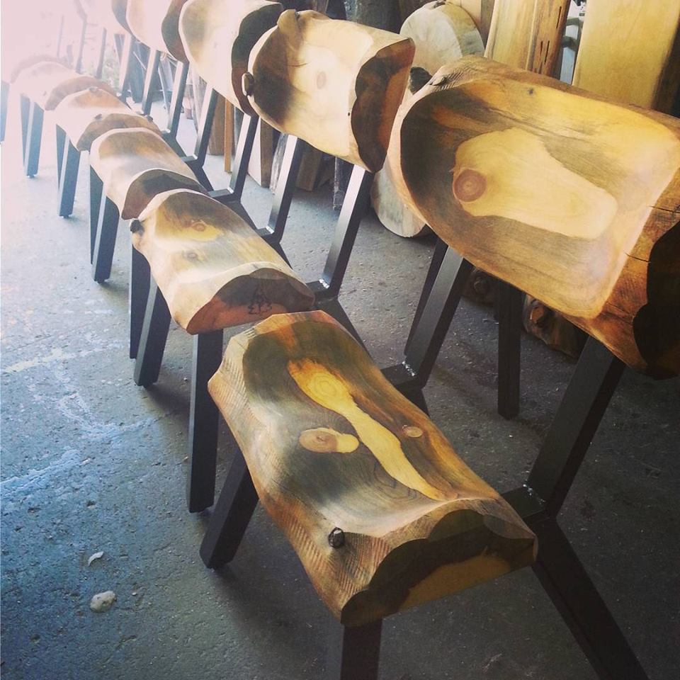 Log on Steel Dining Chairs