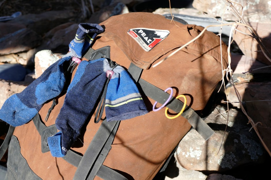 diy drying system for backpacking gear