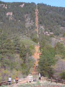 Crowds on the popular Manitou Incline.