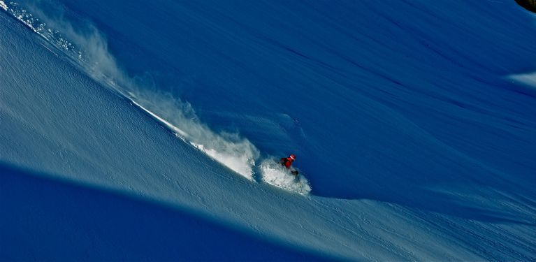Telemark Skiing a backcountry slope