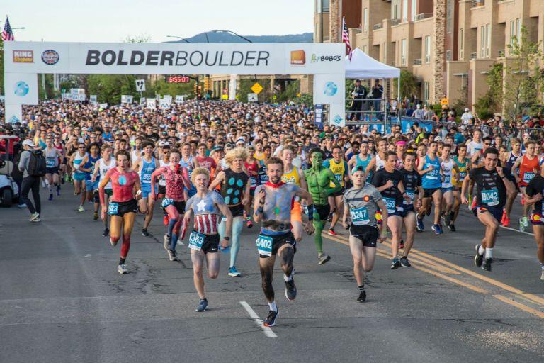 Runners at Bolder Boulder Running Race
