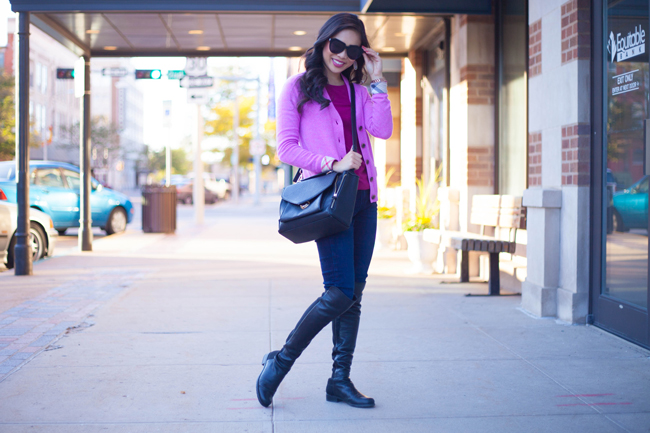 Layers Of Pink :: Cashmere & Over-the-Knee Boots