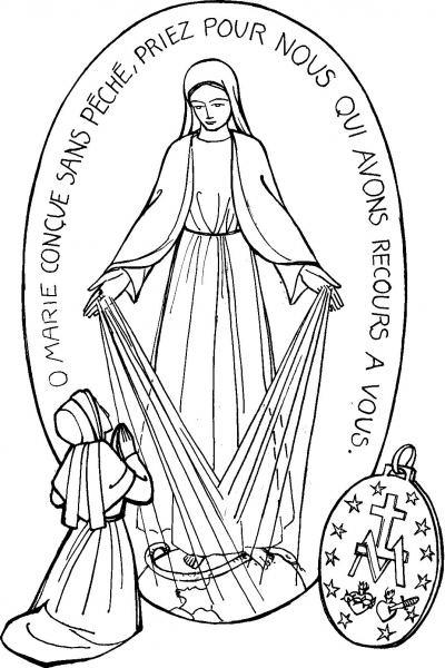 Dibujos De La Vrgen De La Medalla Milagrosa Para Colorear