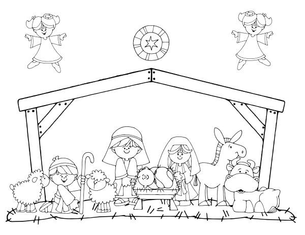 Dibujos de pesebres navideños para colorear: Belenes ...