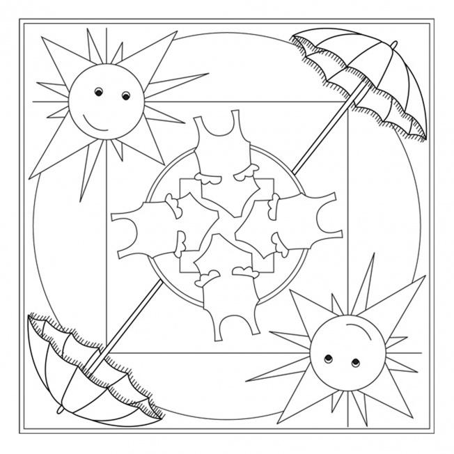Dibujos De Mandalas Con Motivos De Verano Para Pintar