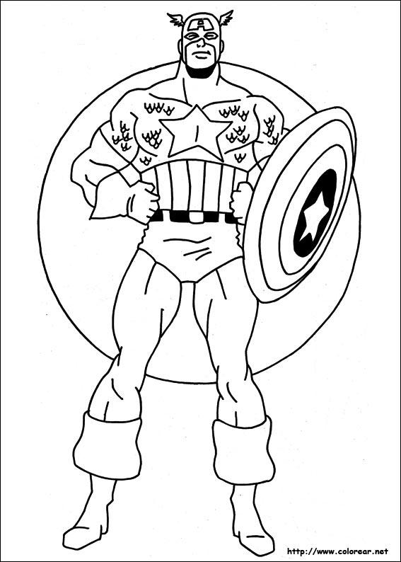 Para ampliar las imágenes para imprimir o descargar, haga click en los dibujos de dibujos de flores para colorear. Dibujos del Capitán América para pintar   Colorear imágenes