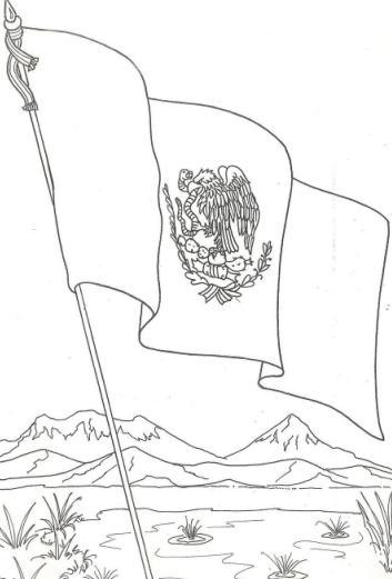 Colorear Para Bandera Mexico Imagenes De De La