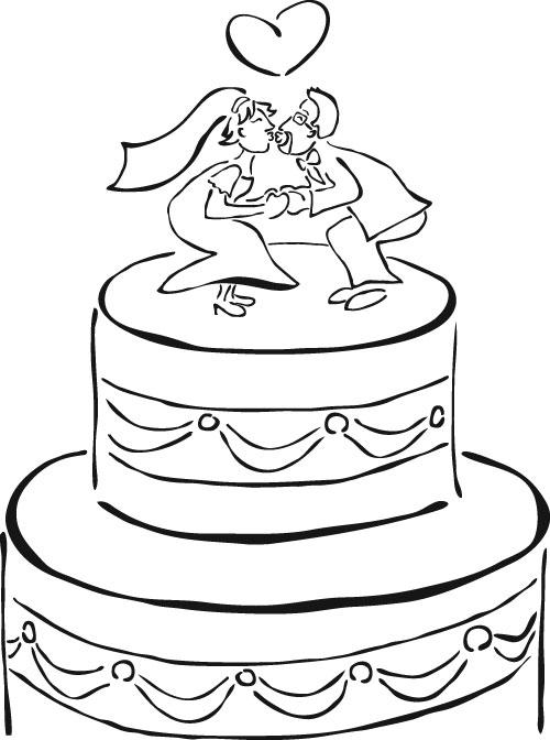 Imprimir dibujos de letras para colorear y pintar de números, letras y formas para aprender. Dibujos de tortas de bodas para imprimir y pintar