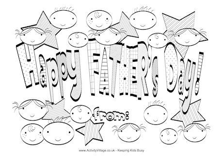 Happy Fathers Day Dibujos Para Imprimir Y Pintar