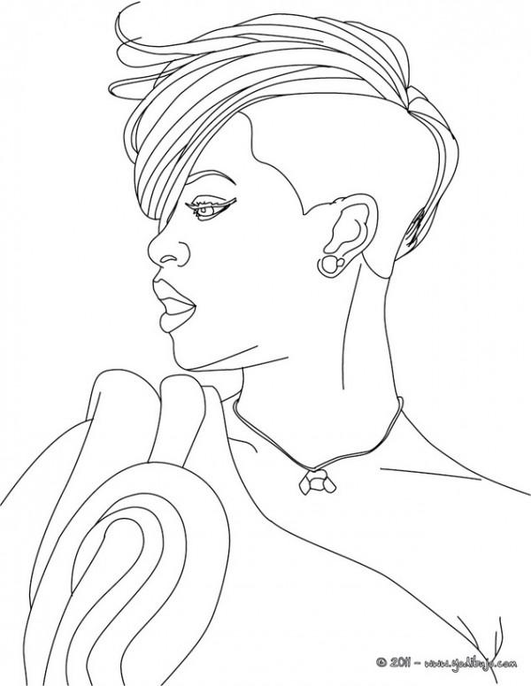 Caricaturas De Rihanna Para Pintar Colorear Imgenes